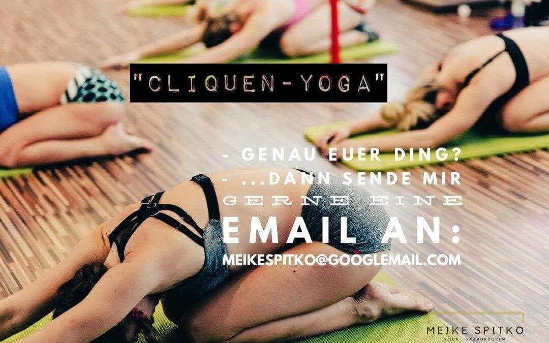 Neue Yoga Kurse: Cliquen Yoga